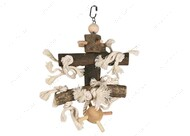 Деревянная подвесная игрушка для птиц Flamingo Cage Hanger Wood With Pinball