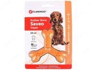 Игрушка жевательная тройная кость со вкусом курицы для собак Flamingo Rubber Flexo Saveo Triple Bone