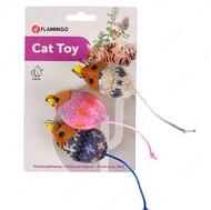Игрушка с кошачьей мятой для котов Flamingo Mohaire Mouse