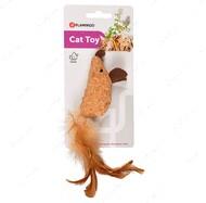 Пробковая игрушка для котов с кошачьей мятой Flamingo Adamello Mouse Soft Wood