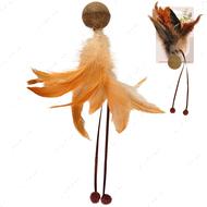 Игрушка для котов мяч с перьями и кошачьей мятой Catnip Ball & Feather