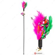 Игрушка для котов дразнилка с перьями Feather Stick