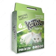 Комкующийся соевый наполнитель Котикс Тофу с ароматом зеленого чая Kotix Tofu Green Tea