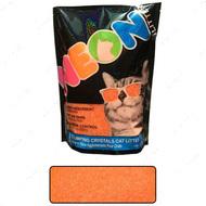 НЕОН комкующийся кварцевый наполнитель, неоновый оранжевый Neon Litter Clump
