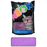 НЕОН комкующийся кварцевый наполнитель, неоновый фиолетовый Neon Litter Clump