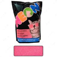 НЕОН комкующийся кварцевый наполнитель, неоновый розовый Neon Litter Clump