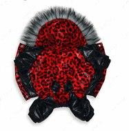 Комбинезон для собак Красный леопард для девочки
