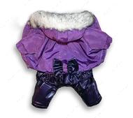 Комбинезон для собаки Снежинка Сиреневый для девочки