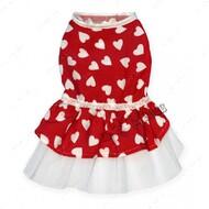 Платье для собак красное Mr.БарBOSS LOVE