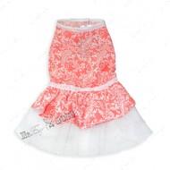 Платье для собак персиковое Mr.БарBOSS LOVE