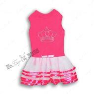 Платье для собак корона малиновое Mr.БарBOSS