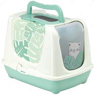 Закрытый туалет для котов Moderna Trendy Cat Eden c угольным фильтром и совком, дизайн Эдем