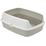 Открытый туалет c бортиком для котов серый Maryloo