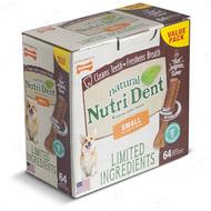 Жевательное лакомство для чистки зубов для собак с говядиной НУТРИ ДЕНТ Nutri Dent Natural
