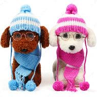 Вязаная шапка+шарф