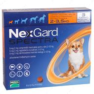 Нексгард  Спектра - таблетки от блох и клещей для собак от 2 до 3,5кг NexGard Spectra