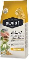 Сухой корм для взрослых котов ежедневная забота с курицей Ownat Classic Daily Care