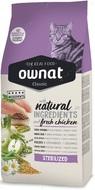 Сухой корм для взрослых стерилизованных и кастрированных котов с курицей Ownat Classic Sterilized