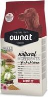 Сухой корм для взрослых собак всех пород с курицей Ownat Classic Complet
