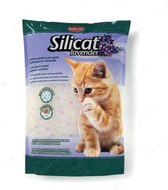 Гигиенический наполнитель для кошачьих туалетов на основе силикагеля с ароматом лаванды SILICAT LAVENDER