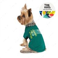 Футболка для собак зеленая GAME