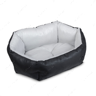 Лежак Кокос мягкое место для собак и кошек серебро-черный
