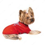 Футболка Pet Fashion Галактика для собак красная