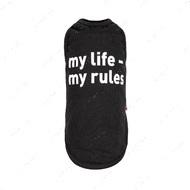 Борцовка для собак my life - my rules черный