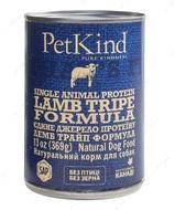 Натуральный влажный корм для собак с новозеландским ягненком и овечьим рубцом PetKind Lamb Tripe Single Animal Protein Formula
