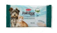"""Очищающие влажные перчатки с протеинами шелка для ухода за шерстью собак и кошек """"PET WIPES GLOVE"""""""