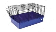 Клетка для грызунов Кролик 70 черно-синяя 70*45*40 см