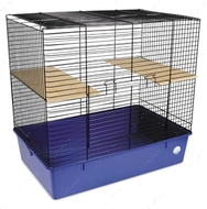 Клетка для декоративных грызунов Шиншилла черно-синяя 70*44*66 см