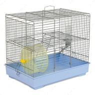 Клетка для грызунов с колесом Микки хром