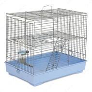 Клетка для грызунов с лесенкой Микки хром