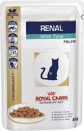 Лечебная диета для кошек с почечной недостаточностью с тунцом RENAL FELINE with TUNA pouches