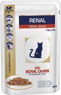 Лечебная диета для кошек с почечной недостаточностью с говядиной RENAL FELINE with Beef pouches