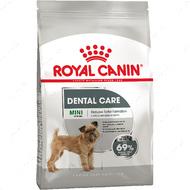Полнорационный корм для собак весом до 10 кг, склонных к образованию зубного налета и камня DENTAL CARE MINI