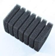 Фильтрующий материал губка средне пористая прямоугольная 35ppi RESUN