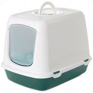 Закрытый туалет для котов Savic Oskar Nordic Gray-green