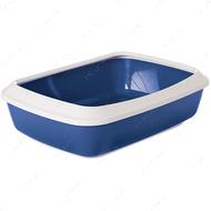 Лоток туалет с бортиком для котов Savic Iriz Nordic Litter Tray blue