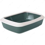 Лоток туалет с бортиком для котов Savic Iriz Nordic Litter Tray Gray-green