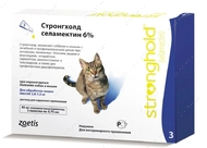 Капли Стронгхолд для кошек от 2,6 до 7,5 кг Stronghold
