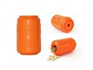 Игрушка для собак оранжевая DURABLE RUBBER CHEW TOY & TREAT DISPENSER - ORANGE SQUEEZE