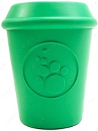 Игрушка для собак COFFEE CUP DURABLE RUBBER CHEW TOY AND TREAT DISPENSER - LARGE - GREEN