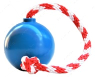 Игрушка для собак USA-K9 CHERRY BOMB DURABLE RUBBER CHEW TOY, TREAT DISPENSER, REWARD TOY, TUG TOY, AND RETRIEVING TOY - BLUE