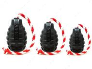Игрушка для собак USA-K9 MAGNUM GRENADE DURABLE RUBBER CHEW TOY, TREAT DISPENSER, REWARD TOY, TUG TOY, AND RETRIEVING TOY - BLACK MAGNUM