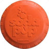 Игрушка для собак тарелка BOTTLE TOP FLYER DURABLE RUBBER RETRIEVING FRISBEE - ORANGE SQUEEZE