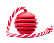 Игрушка для собак  МЯЧ USA-K9 STARS AND STRIPES ULTRA-DURABLE DURABLE RUBBER CHEW TOY, REWARD TOY, TUG TOY, AND RETRIEVING TOY - RED