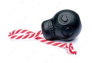 Игрушка для собак ЧЕРЕП MAGNUM SKULL DURABLE RUBBER CHEW TOY, TREAT DISPENSER, REWARD TOY, TUG TOY, AND RETRIEVING TOY - BLACK MAGNUM