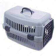 Переноска для кошек и собак серая SG